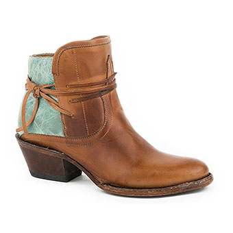Stetson Ladies Minx Shortie Boots - Burnished Tobacco
