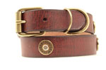 Nocona 1 Shotshell Dog Collar - Brown