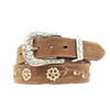 Ariat Women's Floral Rhinestone Belt - Brown