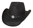 Bullhide All American Girl Straw Hat - Black