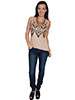 Scully  Sequined Hi/Lo Tank - Camel