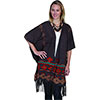 Scully Honey Creek Fringe Embroidered Wrap - Heather Brown