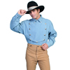 Scully Men's RangeWear Bib Front Shirt - Light Blue