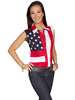 Scully Ladies Rangewear Sleeveless Shirt w/Embroidered Star & Flag
