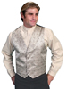 Men's RangeWear Shawl Collar Scroll Vest - Brown