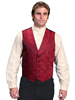 Men's RangeWear Shawl Collar Paisley Vest - Red