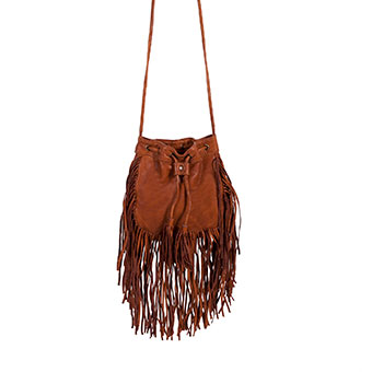Scully Soft Leather Fringed Handbag