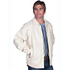 Scully Men's Zip Front Lamb Jacket - Cream Lamb