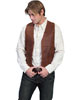 Scully Men's Vintage Lamb Western Vest Single Point - Brown
