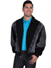 Scully Men's Boar Suede Rodeo Jacket - Black/Dark Grey