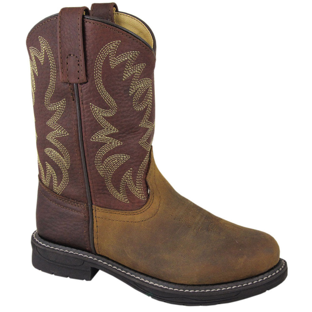 Smoky Mountain Youth Brown Rancher Boots 5