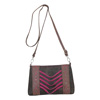 Catchfly Paige Crossbody Bag - Brown/Pink