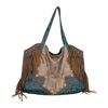 Catchfly Lauren Concealed Carry Hobo Bag - Brown/Blue
