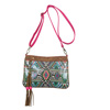 Catchfly Arianna Crossbody Bag - Brown/Pink