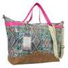 Catchfly Arianna Large Weekender Bag - Brown/Pink