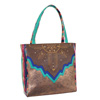 Catchfly Maya Tote Bag - Brown/Blue